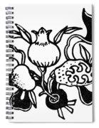 Symbol: Three Fruits Spiral Notebook