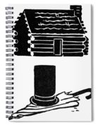 Symbols: Abe Lincoln Spiral Notebook