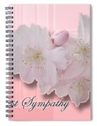 Sympathy - Cherry Blossoms Spiral Notebook
