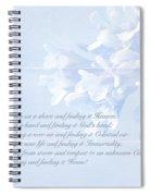 Sympathy Greeting Card - Hairy Bittercress Wildflower Spiral Notebook