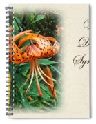 Sympathy Greeting Card - Wildflower Turk's Cap Lily Spiral Notebook
