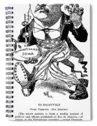 T. Roosevelt Cartoon, 1903 Spiral Notebook