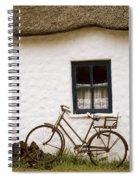 Tahtched Cottage And Bike Spiral Notebook
