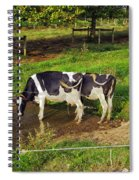 Tail Of Two Cows Spiral Notebook