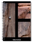 Take Action With Caption Spiral Notebook