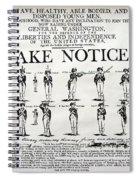 Revolutionary War  Take Notice  Spiral Notebook