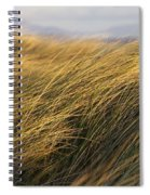 Tall Grass Blowing In The Wind Spiral Notebook