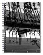 Tall Ship Canons Black And White Spiral Notebook