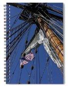 Tall Ship Rigging Spiral Notebook