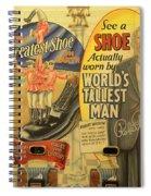 Tallest Man Sign Spiral Notebook