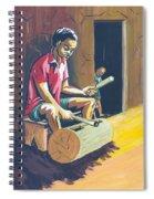 Tambour A Fente Spiral Notebook