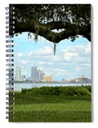 Tampa Skyline Through Old Oak Spiral Notebook