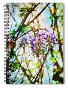 Tangled Wisteria Spiral Notebook