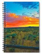 Taos Sunset Ix Spiral Notebook