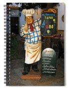 Tapas Man In Spain Spiral Notebook