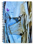 Tattered Paper On A Bulletin Board No.1045 Spiral Notebook