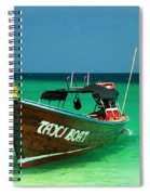 Taxi Boat Spiral Notebook