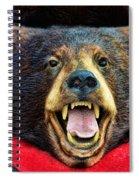 Taxidermy -  Black Bear Spiral Notebook
