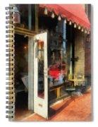Tea Room In Sono Norwalk Ct Spiral Notebook