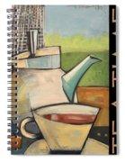 Tea Time Poster Spiral Notebook