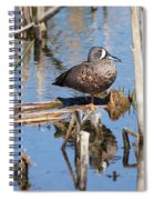 Teal Standing On One Leg Spiral Notebook