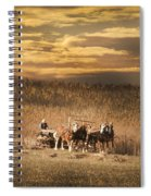 Team Of Four Horses Spiral Notebook