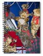 Teddy Bear Band Christmas Spiral Notebook
