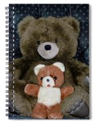 Teddy Elder Care Bear Spiral Notebook