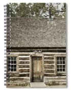 Teddy Roosevelt's Maltese Cross Log Cabin Retro Style Spiral Notebook
