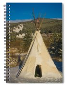 Teepee In The Snow 2 Spiral Notebook