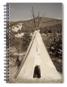 Teepee In The Snow Spiral Notebook