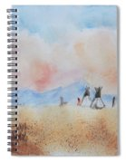 Teepees - Watercolor Spiral Notebook