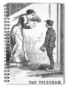 Telegram: Death, 1879 Spiral Notebook