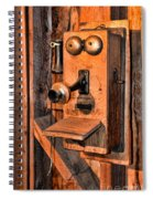 Telephone - Antique Hand Cranked Phone Spiral Notebook