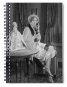 Telephone Call, 1920s Spiral Notebook