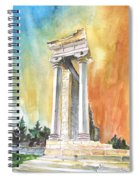 Temple Of Apollo In Kourion Spiral Notebook