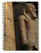 Temple Of Luxor  Egypt Spiral Notebook