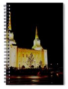 Temple Of The Later Day Saints Spiral Notebook