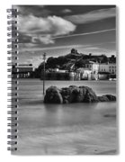 Tenby Harbour 1 Mono Spiral Notebook