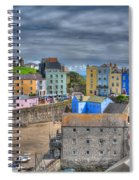 Tenby Harbour In Summer 2 Spiral Notebook