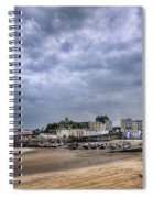 Tenby Harbour Low Tide Spiral Notebook