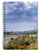 Tenby Pembrokeshire Painted Spiral Notebook