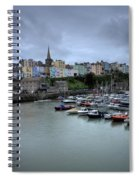 Tenby Town Across The Harbour Spiral Notebook