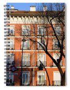 Tenement House Facade In Madrid Spiral Notebook