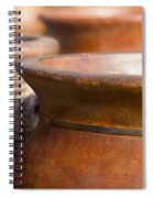 Terracotta Mexican Pottery Spiral Notebook