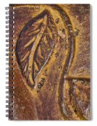 Terracotta Raised Relief Pottery Leaf Spiral Notebook