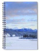 Teslin River At Sunset, Teslin, Yukon Spiral Notebook