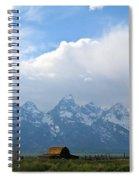 Teton Mountains And Barn Spiral Notebook