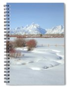 Teton Snow Spiral Notebook