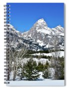 Teton Winter Landscape Spiral Notebook